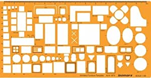 Isomars Scale Architectural Drawing Template Stencil