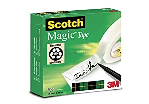 Scotch M8101966 Klebeband Magic (Zellulose Acetat, 19 mm x 66 m) matt / unsichtbar