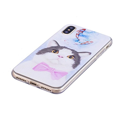 inShang iPhone X 5.8inch custodia cover del cellulare, Anti Slip, ultra sottile e leggero, custodia morbido realizzata in materiale del TPU, frosted shell , conveniente cell phone case per iPhone X 5. cat