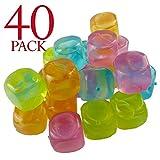 Cubetti di ghiaccio multicolore riutilizzabili per raffreddare le bevande. confezione da 40