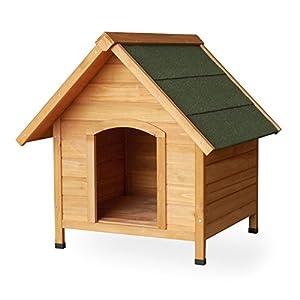 Niche Maison Cabane pour chien Maison animaux Bois épicéa Toiture goudron Bois massif 720x760x760 mm