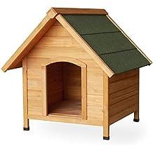 Caseta de perro caseta de perro refugio caseta (madera de abeto tejado Tar madera maciza 780x 820x 760mm