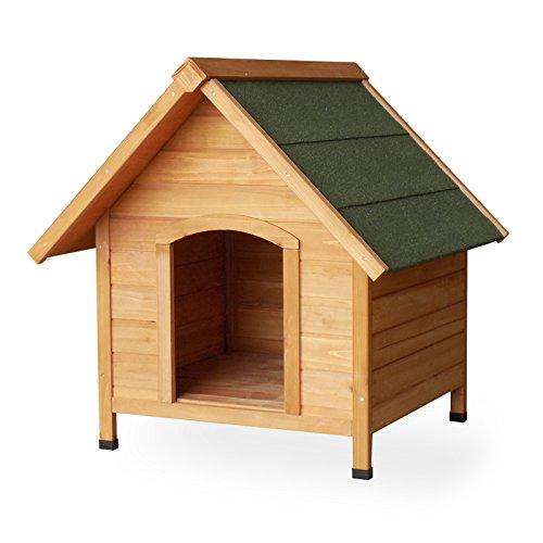 Hundehütte Hundehaus Tierhaus Fichtenholz Teerdach Massivholz 720x760x760 mm Hund