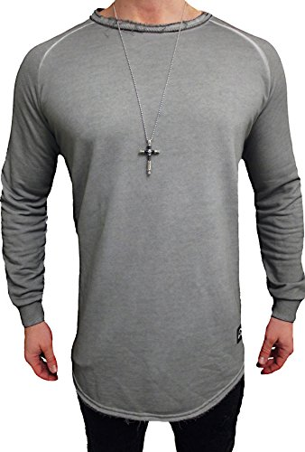 "Oversize Designer Pullover "" WASHED STYLE "" Sweat Jacke long Cardigan Hoody Shirt Herren Hoodie - 3"