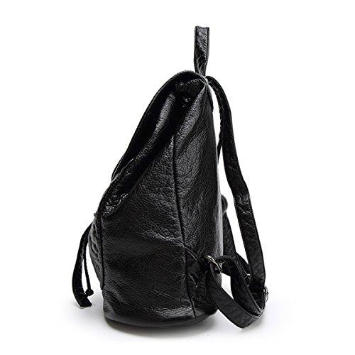 Washed Leder Rucksack Soft Leder Rucksack College Wind Große Kapazität Tasche Brown