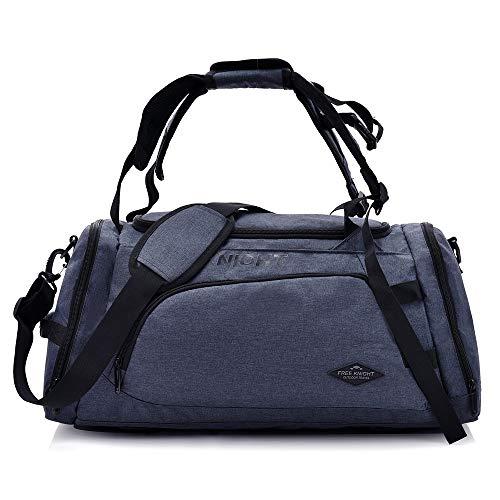 Huanxin Sport-Sporttasche, 35 l wasserdichte, Faltbare Taschen, mit Schuhfach, für Unisex Weekend Daypack Große Reisetasche,e