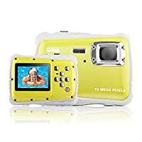 Yocktec Underwater Action Camera -3M Waterproof High Definition Digital Camera for Kids (Yellow)