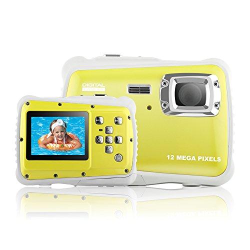 Kinder Für Unterwasser-kamera (Yocktec Unterwasser-Action-Kamera -3M wasserdichte High-Definition-Digitalkamera für Kinder (Gelb))