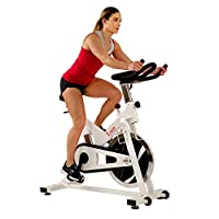 Sunny Health & Fitness Unisex Adult SF-B1110 Indoor Cycling Bike - White, One Size