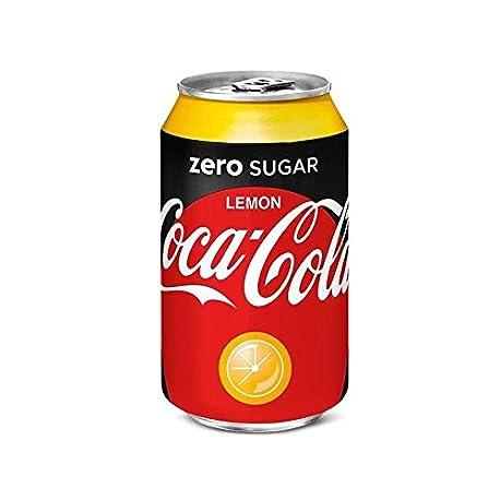72 x Coca Cola Zero Lemon cans dosen canettes latas lattine 0 33 L