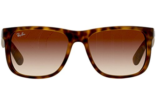 New Ray Ban Justin Sunglasses RB4165 Tortoise 710/13 55mm Brown Gradient UV Lens