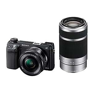 Sony NEX-6YB Kompakte Systemkamera (16,1 Megapixel, 7,6 cm (3 Zoll) TFT-Display, Full HD, HDMI, WiFi) Kit inkl. SEL-P1650 und SEL-55210 Objektiv schwarz