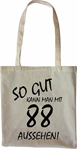 Mister Merchandise Tote Bag So gut kann man mit 88 aussehen! Jahren Jahre Borsa Bagaglio , Colore: Nero Naturale