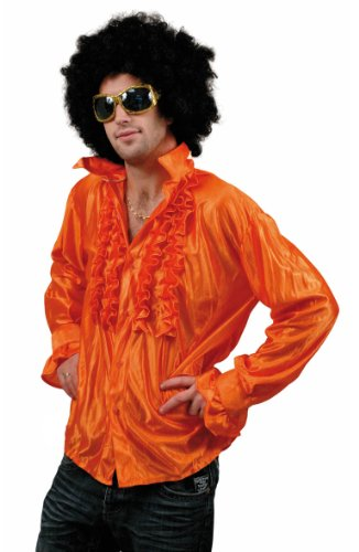 Chemise-Disco-Orange-Homme