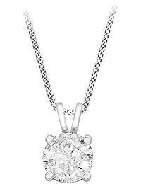 Carissima Gold Mujer  9 k (375)  Oro blanco redondo   incoloro diamante