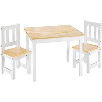 Ensemble de sièges d/'enfants non traitée 1 table 2 chaises 1 enfants avec