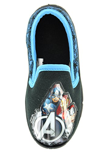 boys-marvel-avengers-hulk-iron-man-thor-captain-america-slip-on-slippers-shoes-black-toddler-childre