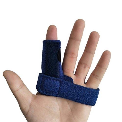 ULTNICE Fingerschiene für Finger Frakturen, Wunden und postoperativ Einstellbare (blau) (Finger-joint Einstellbare)