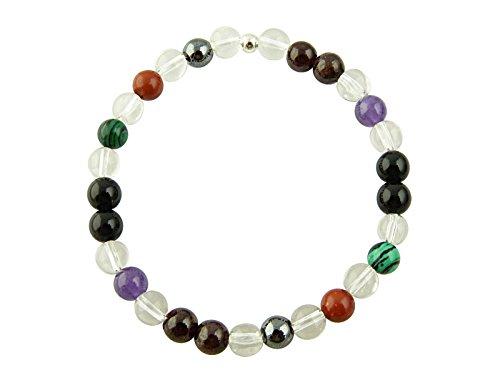 Sunsara Traumsteinshop Edelstein Sternzeichen Armband - Skorpion, mit 925er Silber Perle, Heilsteinarmband, Stretcharmband 8143