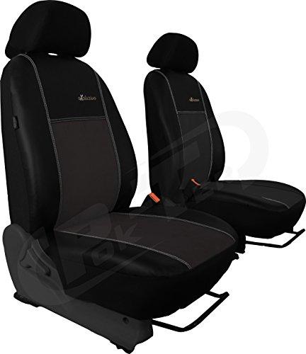 Preisvergleich Produktbild Für T5 Caravelle paßgenaue Vordersitzbezüge im Design EXCLUSIVE Alcantara mit Kunstleder in GRAU (In 4 Farben bei anderen Angeboten erhältlich)