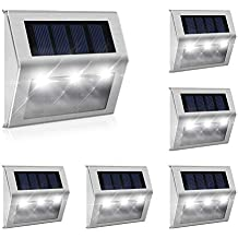 4Stk Warmweiß 3LEDs Solarleuchte Zaun Wandleuchte Solarleuchten für den garten