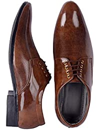 Port Men's Synthetic Leather Lace Up Formal Shoes