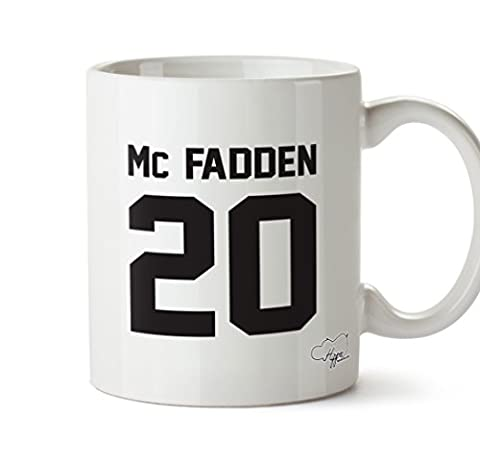 Hippowarehousemc Fadden 20(Imprimé sur le dos) 283,5gram Mug Cup, Céramique, blanc, One Size (10oz)