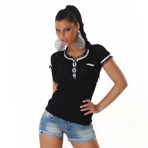 Sexy Shirt Top camicetta One Size 36,38,40,42 diversi colori Nero