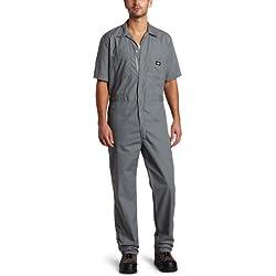 Dickies - Hommes de travail Combinaison courte en popeline à manches, X-Large x Small, Grey