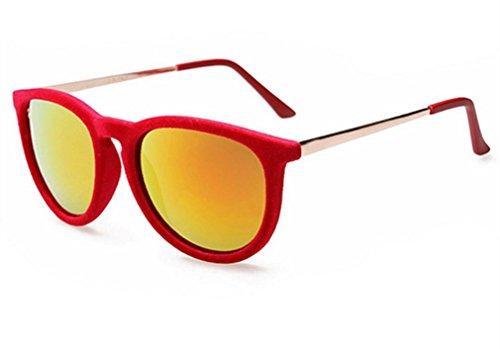 Männliche Frau Sonnenbrillen-Marke Sonnenbrille Plüsch , Red (Jugend Red Zebra)