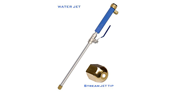 Nettoyeur Haute Pression Nettoyant pour Vitres Haute Pression Jet Deep Jet Power Washer Wand Hydro Jet Fixation Tuyau de Voiture avec 2 Embouts pour le Nettoyage des Vitres Pulv/érisateur de Jardin