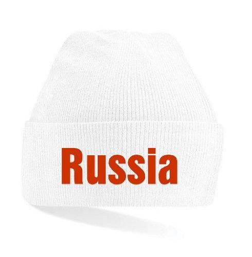 world-of-shirt Russia / Russland Mütze|weiß