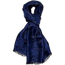 Écharpe élégante en tissu damassé et soie - Motif floral - 55 ... 637bd99505c