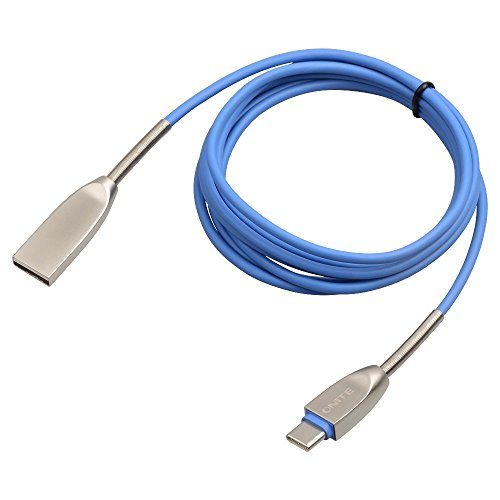 Preisvergleich Produktbild Onite 1.8M USB 3.1 Type C Kabel Ladekabel Datenkabel Adapter für LG G5,  Huawei P9 / Plus, Google Nexus 5X / 6P,  Microsoft Lumia 950XL und weitere (Blau)