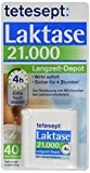 tetesept Laktase 21.000 FCC-Einheiten Langzeit-Depot - Mit 4 Stunden Langzeit-Depot - kontinuierlicher Laktoseabbau in Magen & Darm - wirkt sofort - 1 Dose à 40 Stück [Nahrungsergänzungsmittel]