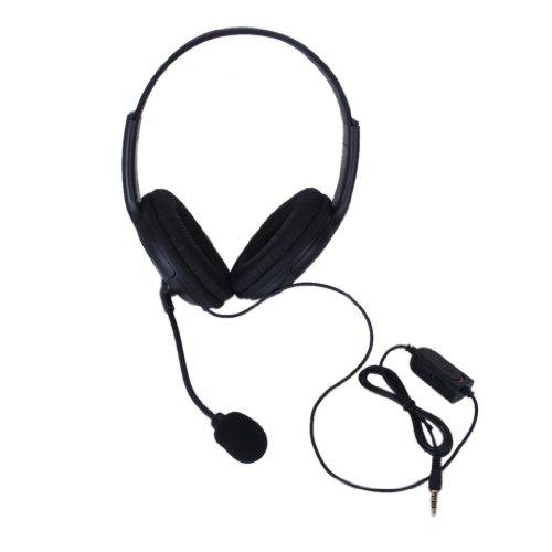 Sodial(r) nero 3,5mm cuffie auricolari microfono con fili per sony ps4