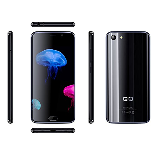 [Elephone Official Store] Elephone S7 4G LTE Dual SIM Smartphone Android 6.0 Helio X20 Deca-Core 2.0GHz, 4GB di RAM, 64 GB ROM, FHD Schermo 13.0MP + 5.0MP Telecamere di Impronte Digitali Nero