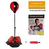 Set di punzonatura per bambini, guantoni da boxe Altezza regolabile per bambini Boxe/Velocità/Agility Training Boy Sandbag Sport Toy