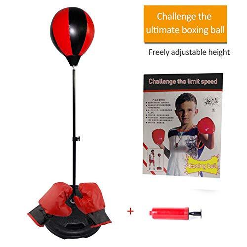 Wovemster Punchingball Boxen Set Mit Boxhandschuhen,Höhenverstellbarer mit Standfuß,Geeignet Reaktionstraining für Kinder von 4-10 Jahren