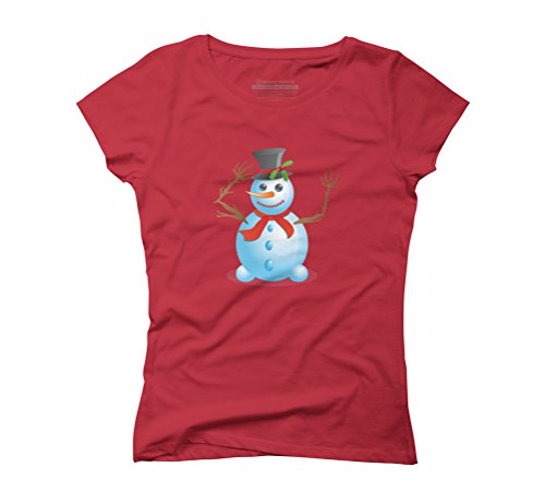 Christmas snowman Women's Graphic T-Shirt - Design By Humans Red