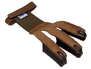 Nouveau cuir Tir à l'arc Tir Neet Gant Tab Arc Classique Longbow (petit)