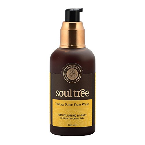 Soul Tree SoulTree Ayurvedic turmeric & indian rose with forest honey Face Wash for Dry to Normal Skin,120ml