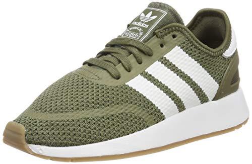 adidas N-5923, Zapatillas de Gimnasia para Hombre, Verde Raw Khaki/FTWR  White/Gum4, 42 2/3 EU