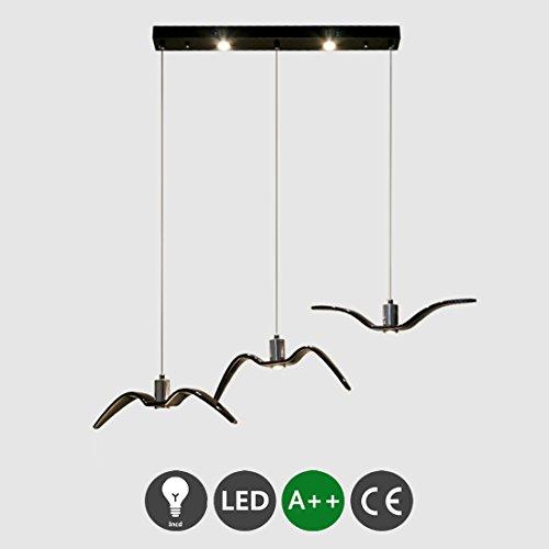 LED Hängeleuchte Esstischleuchte Modern Minimalistisch Pendelleuchte Dekorativ Design Lampe Metall Möwe Anhänger Leuchte Höhenverstellbar Pendellampe Mädchen Zimmerlampe Kinderzimmer Esszimmer Hotel