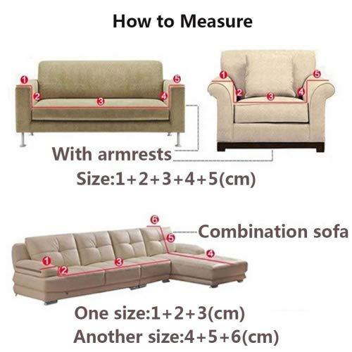 Copridivano in spesso velluto elastico, fodera protettiva da divano, aderente e facile da mettere, in tessuto elasticizzato, Light Gray, 2 Seater:145-185cm