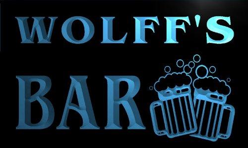 Cartel Luminoso w001543-b WOLFF Name Home Bar Pub Beer Mugs Cheers Neon Light Sign