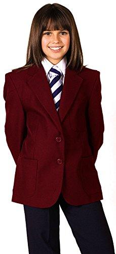 CKL Mädchen Schule Uniform Blazer 100% Polyester Teflon beschichtet wasserabweisend Blazer Coat Jacke, CBZG01M, Rot