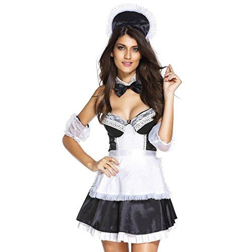 Slocyclub Damen Französische Maid Schürze Kostüm Fancy (Uk Französisch Kostüme Maid)