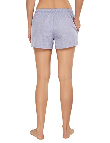 Schiesser - Mix & Relax Web Shorts, Pantaloni pigiama Donna Blu (dunkelblau 803)