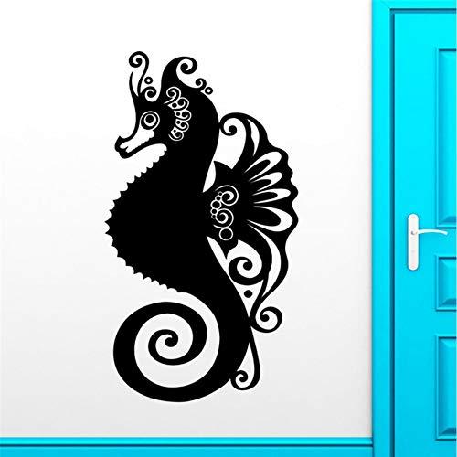 Jixiaosheng Neu Ankunft Seepferdchen Wandaufkleber Ocean Marine Tier Bad Vinyl Aufkleber Dekor Hohe Qualität Wasserdichte Nette Wandbild42 * 81 Cm